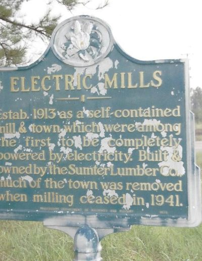 Electric Mills sign
